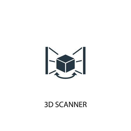 3d scanner icon. Simple element illustration. 3d scanner concept symbol design. Can be used for web Иллюстрация