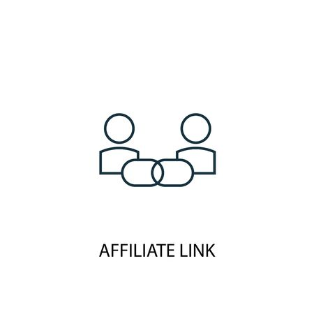Affiliate Link concept line icon. Simple element illustration. Affiliate Link concept outline symbol design. Can be used for web and mobile Illustration