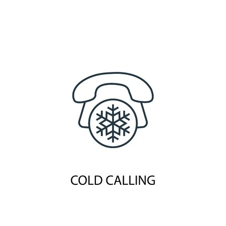 Cold Calling concept line icon. Simple element illustration. Cold Calling concept outline symbol design. Can be used for web and mobile