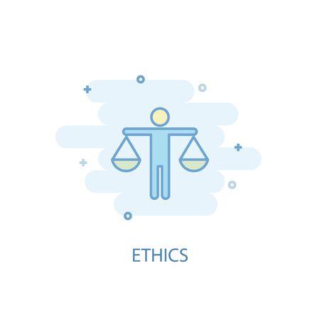 ethics line concept. Simple line icon, colored illustration. ethics symbol flat design