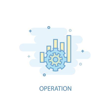 operation line concept. Simple line icon, colored illustration. operation symbol flat design