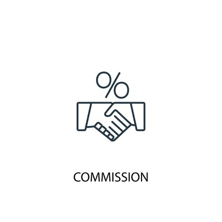 Commission concept line icon. Simple element illustration. Commission concept outline symbol design. Can be used for web and mobile