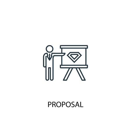 proposal concept line icon. Simple element illustration. proposal concept outline symbol design. Can be used for web and mobile
