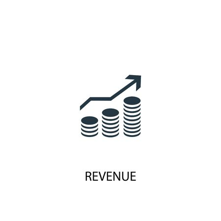 revenue icon. Simple element illustration. revenue concept symbol design. Can be used for web Illustration
