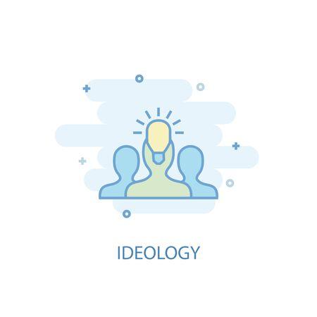 ideology line concept. Simple line icon, colored illustration. ideology symbol flat design