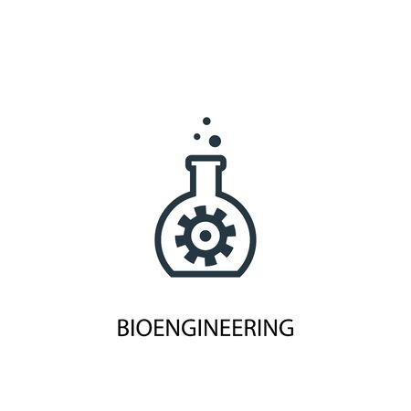 bioengineering icon. Simple element illustration. bioengineering concept symbol design. Can be used for web Ilustração