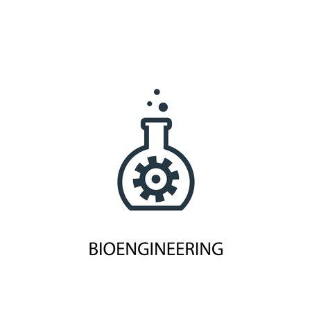 bioengineering icon. Simple element illustration. bioengineering concept symbol design. Can be used for web Illustration