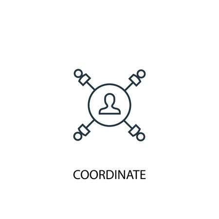 coordinate concept line icon. Simple element illustration. coordinate concept outline symbol design. Can be used for web and mobile