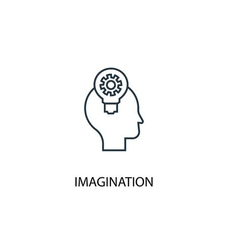 imagination concept line icon. Simple element illustration. imagination concept outline symbol design. Can be used for web and mobile Illustration
