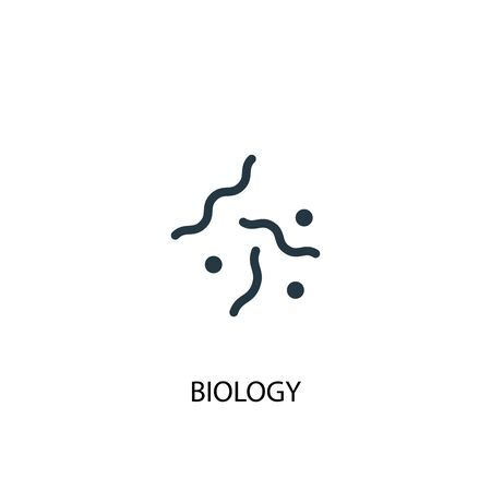 biology icon. Simple element illustration. biology concept symbol design. Can be used for web Çizim