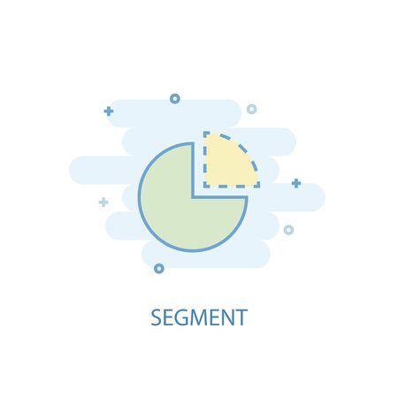 segment line concept. Simple line icon, colored illustration. segment symbol flat design