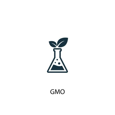 GMO icon. Simple element illustration. GMO concept symbol design. Can be used for web