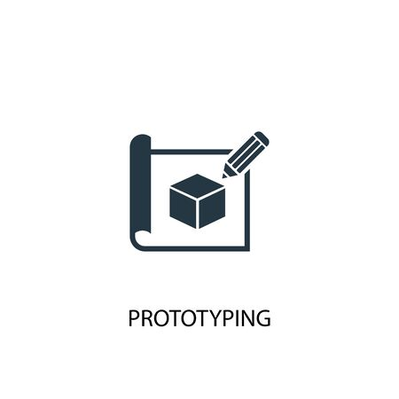 prototyping icon. Simple element illustration. prototyping concept symbol design. Can be used for web Vectores