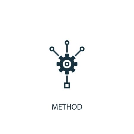 method icon. Simple element illustration. method concept symbol design. Can be used for web