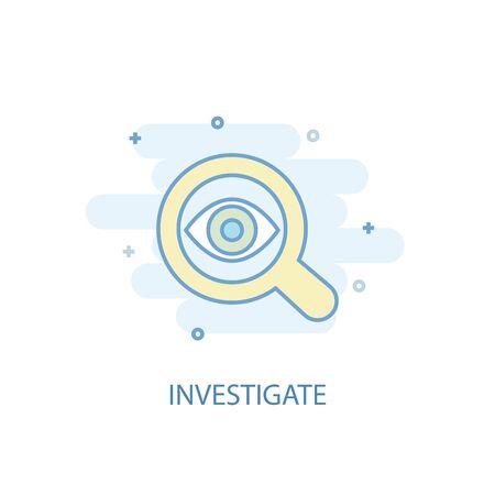 investigate line concept. Simple line icon, colored illustration. investigate symbol flat design