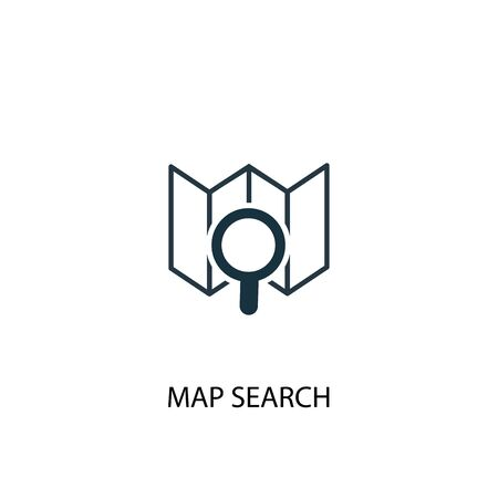 map search icon. Simple element illustration. map search concept symbol design. Can be used for web