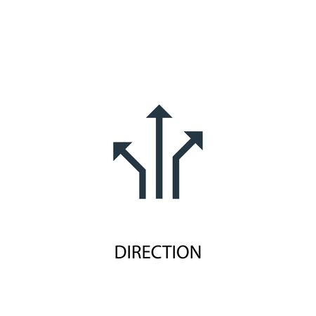 direction icon. Simple element illustration. direction concept symbol design. Can be used for web