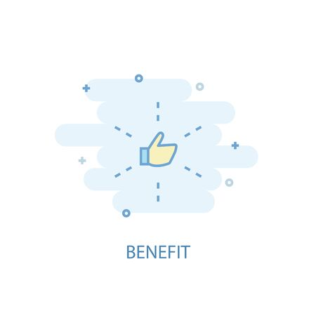 benefit line concept. Simple line icon, colored illustration. benefit symbol flat design. Can be used for UI 向量圖像