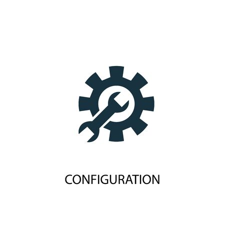 configuration icon. Simple element illustration. configuration concept symbol design. Can be used for web Illustration