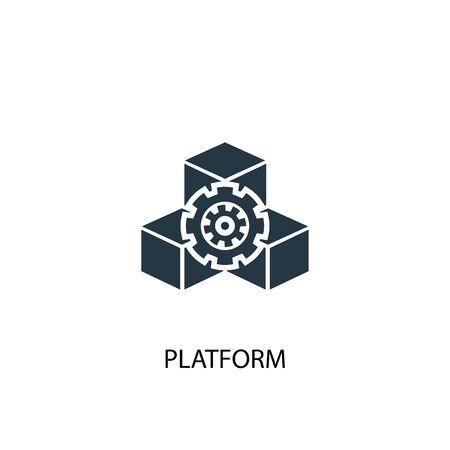 platform icon. Simple element illustration. platform concept symbol design. Can be used for web