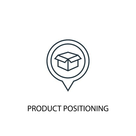 Product Positioning concept line icon. Simple element illustration. Product Positioning concept outline symbol design. Can be used for web and mobile Ilustrace
