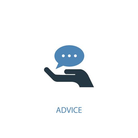 advice concept 2 colored icon. Simple blue element illustration. advice concept symbol design. Can be used for web and mobile