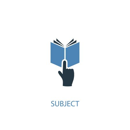 subject concept 2 colored icon. Simple blue element illustration. subject concept symbol design. Can be used for web and mobile