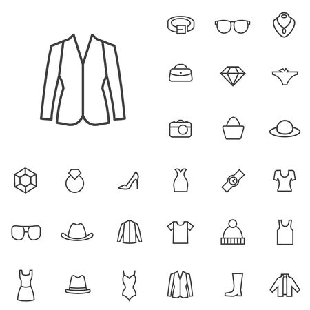 fashion outline, thin, flat, digital icon set for web and mobile.