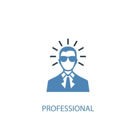 professional concept 2 colored icon. Simple blue element illustration. professional concept symbol design. Can be used for web and mobile Vettoriali