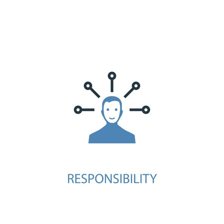 responsibility concept 2 colored icon. Simple blue element illustration. responsibility concept symbol design. Can be used for web and mobile