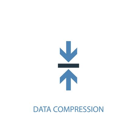 Data Compression concept 2 colored icon. Simple blue element illustration. Data Compression concept symbol design. Can be used for web and mobile