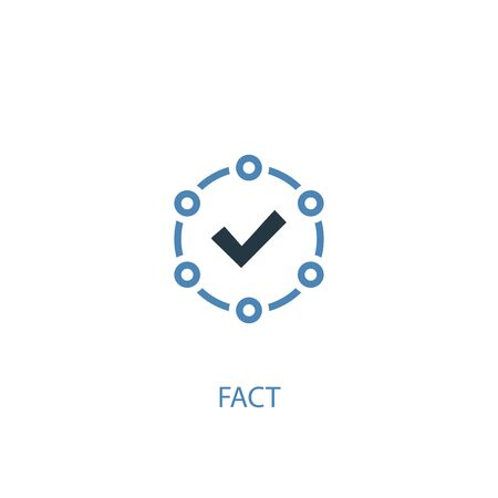 fact concept 2 colored icon. Simple blue element illustration. fact concept symbol design. Can be used for web and mobile
