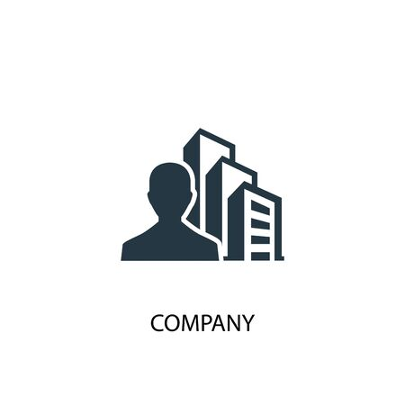company icon. Simple element illustration. company concept symbol design. Can be used for web
