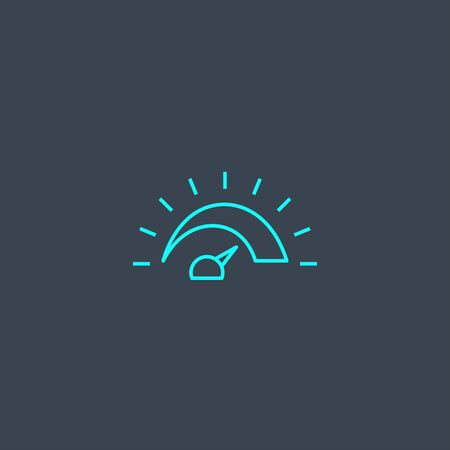 measurement concept blue line icon. Simple thin element on dark background. measurement concept outline symbol design. Can be used for web and mobile Stock Illustratie