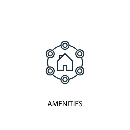 Amenities concept line icon. Simple element illustration. Amenities concept outline symbol design. Can be used for web and mobile