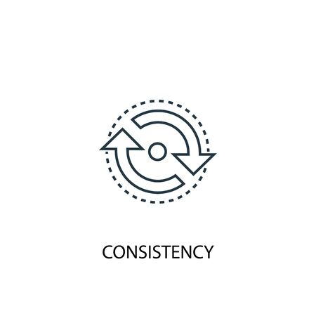 consistency concept line icon. Simple element illustration. consistency concept outline symbol design. Can be used for web and mobile