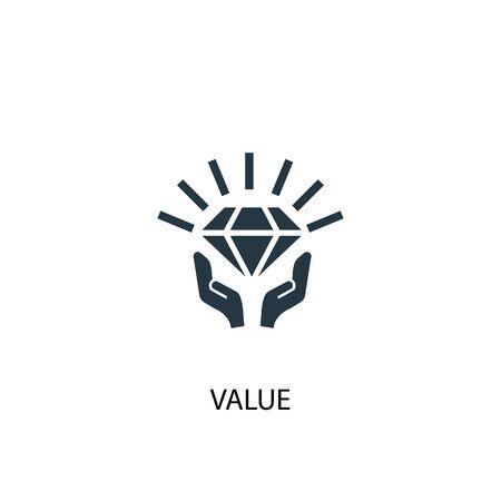 icono de valor. Ilustración de elemento simple. diseño de símbolo de concepto de valor. Puede usarse para web