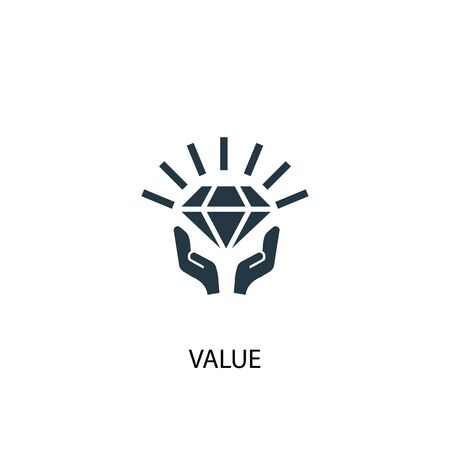 value icon. Simple element illustration. value concept symbol design. Can be used for web