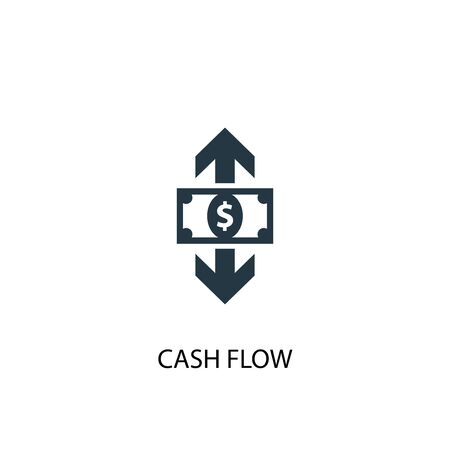 cash flow icon. Simple element illustration. cash flow concept symbol design. Can be used for web