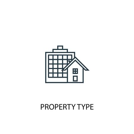 Property Type concept line icon. Simple element illustration. Property Type concept outline symbol design. Can be used for web and mobile Illusztráció