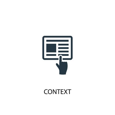 context icon. Simple element illustration. context concept symbol design. Can be used for web