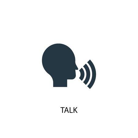 talk icon. Simple element illustration. talk concept symbol design. Can be used for web