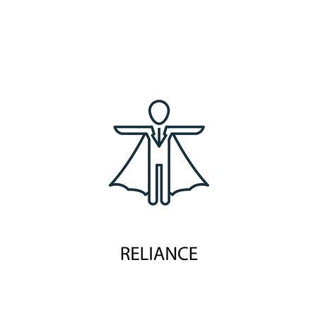 reliance concept line icon. Simple element illustration. reliance concept outline symbol design. Can be used for web and mobile