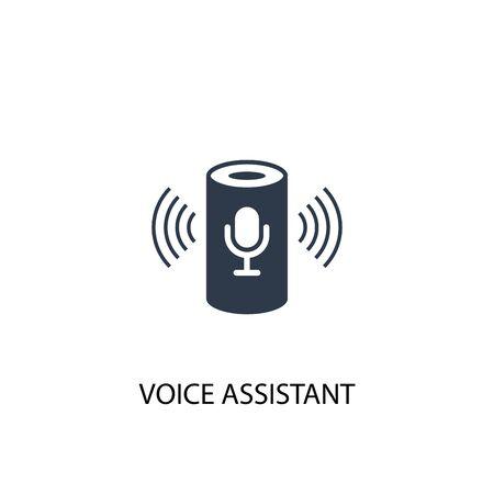 icona dell'assistente vocale. Illustrazione semplice dell'elemento. disegno di simbolo di concetto di assistente vocale. Può essere utilizzato per il web