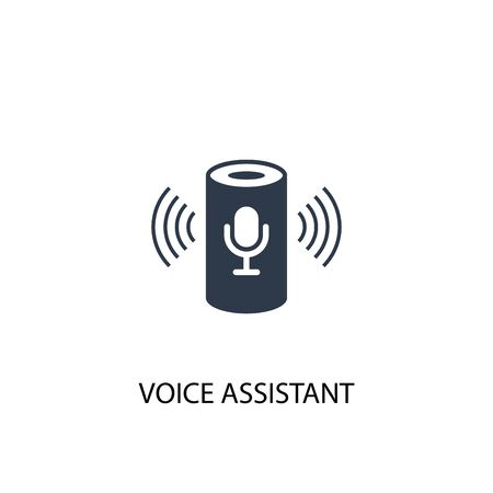 voice assistant icon. Simple element illustration. voice assistant concept symbol design. Can be used for web Vettoriali