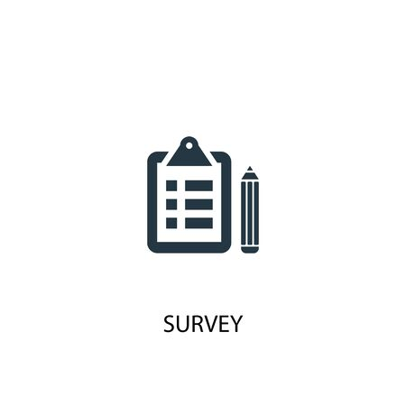 survey icon. Simple element illustration. survey concept symbol design. Can be used for web