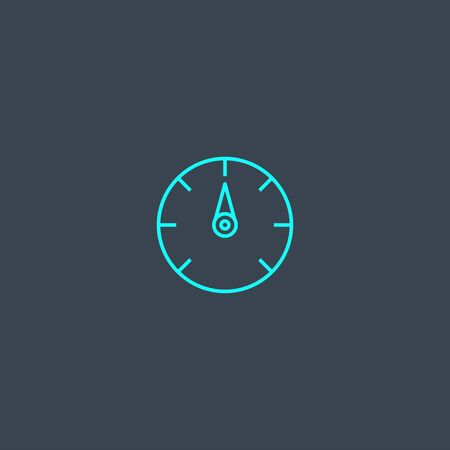 indicator concept blue line icon. Simple thin element on dark background. indicator concept outline symbol design. Can be used for web and mobile Stock Illustratie