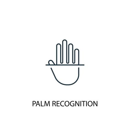 palm recognition concept line icon. Simple element illustration. palm recognition concept outline symbol design. Can be used for web and mobile