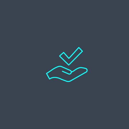standard concept blue line icon. Simple thin element on dark background. standard concept outline symbol design. Can be used for web and mobile Illustration