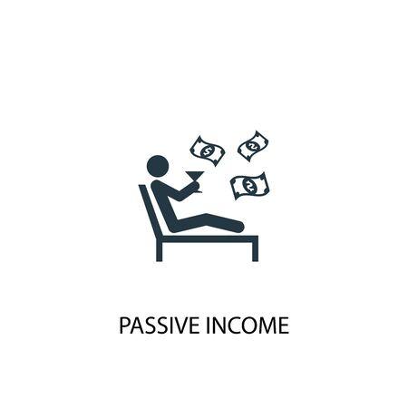passive income icon. Simple element illustration. passive income concept symbol design. Can be used for web